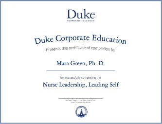 Certificate in Nurse Leadership | Duke CE